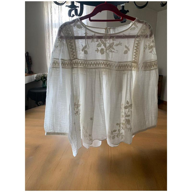 embroidered romantic top zara